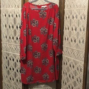 Red Paisley Shift Dress